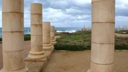 Cezarea Nadmorska. Ruiny pałacu Heroda Wielkiego.