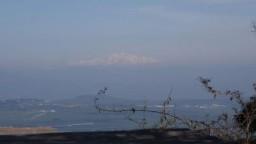 GĂłra Tabor. Widok na GĂłrÄ™ Hermon na granicy Libanu i Syrii.