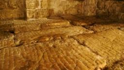 Jerozolima. Relikty twierdzy Antonia w podziemiach klasztoru sióstr syjońskich. LITOSTRO
