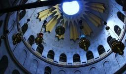 Jerozolima. Bazylika Grobu Świętego. Kopuła nad Grobem Chrystusa.