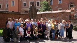 Pomnik Jana Pawła II na Wawelu.