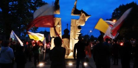 Czuwanie modlitewne przy pomniku św. Jana Pawła II