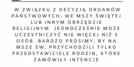 Komunikat ks. Proboszcza