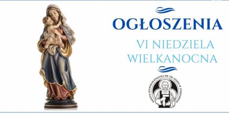 Ogłoszenia na VI Niedzielę Wielkanocną - 09. 05. 2021 »